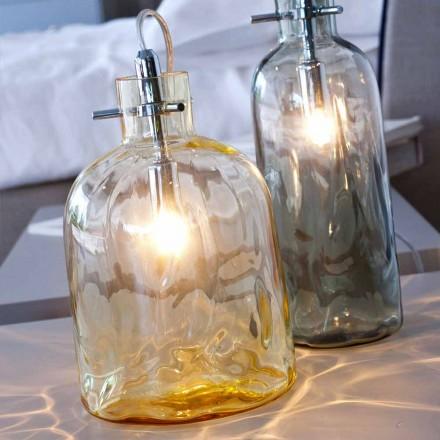 Selene Bossa Nova Amber llambë tavoline qelqi, në ajër, 15 H21cm