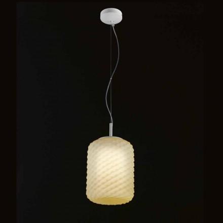 Llambë varëse Selene Domino, e bërë nga qelqi i çelur Ø21 H 27/140 cm