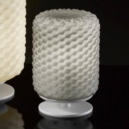 Llambë tryeze e punuar me dorë Selene Domino, 15 H x 22 cm, dizajn modern