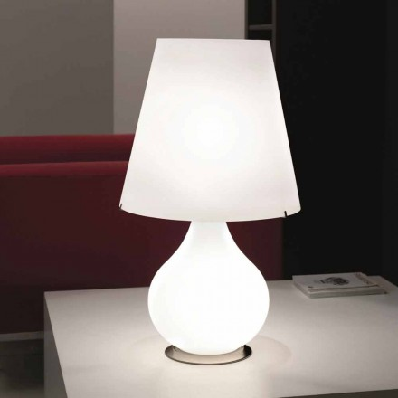 Llambë tryeze moderne Selene Forever e bërë nga qelqi në lulëzim, 41 H 72cm
