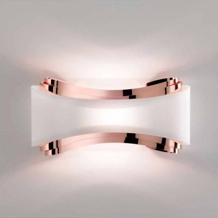 Llambë muri çeliku të punuar me dorë Selene Ionica, 43x12xH20 cm, dizajn modern