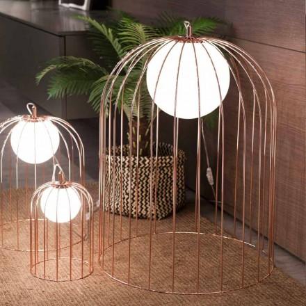 Llambë tavoline kafaz Selene Kluvì e bërë nga qelqi i çelur, 454 H 70cm