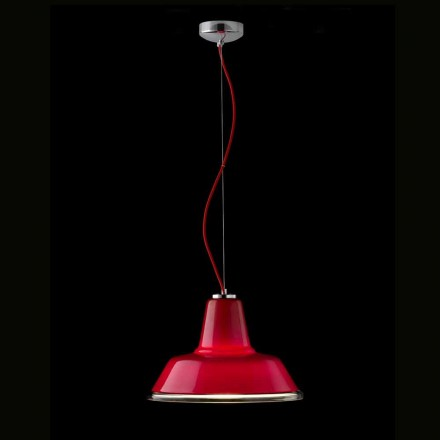 Llambë varëse Selene Lampara e bërë nga qelqi i çelur Ø37 H 24/140 cm