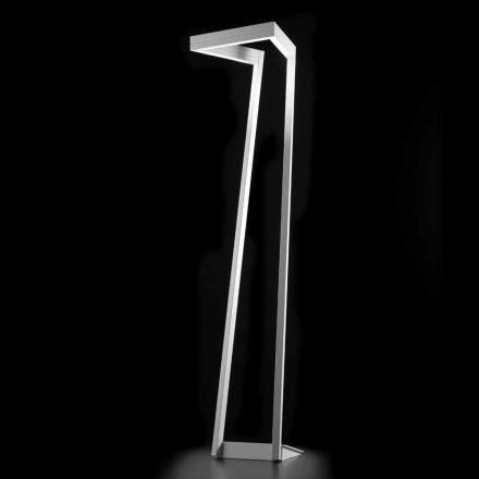 Selene Mënyra ime llambë LED e bardhë moderne me dysheme 40x40, H180 cm, e bërë në Itali