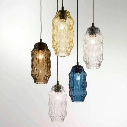 Selene Origami llambë varëse prej xhami në lulëzim, Ø16, H30 / 140cm, dizajn modern