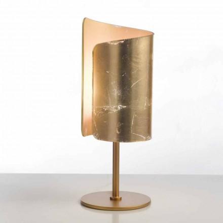 Llambë tavoline kristali Selene Papiro, e bërë në Itali, Ø 15 H38cm