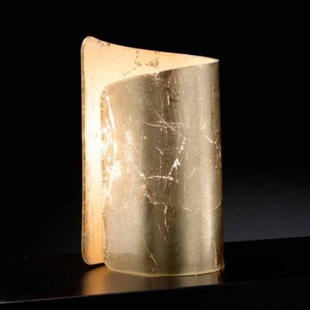 Tavolinë kristali Selene Papiro & llambë tryeze, e bërë në Itali, 15x14xH25cm