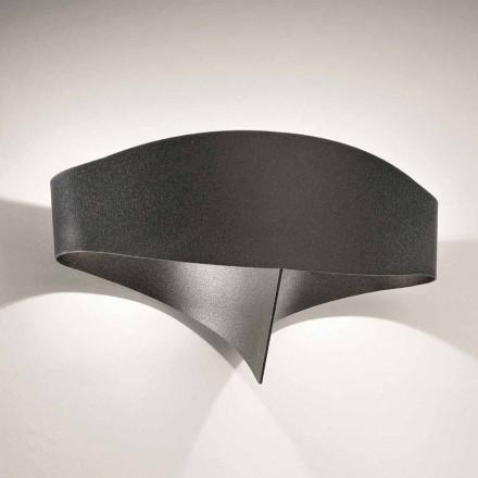 Lazeri Selene Scudo prerë dritën e murit prej çeliku, dizajn modern, i bërë në Itali