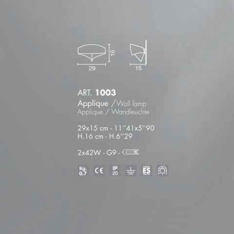Dizajn modern llambë galvanike Selene Scudo, dizajn modern, i bërë në Itali