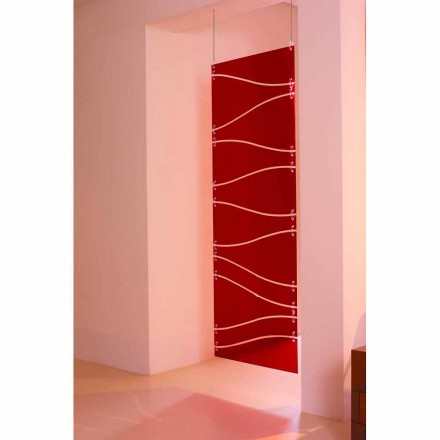Ndarësi i dhomës së metakrilatit të varur në mur Blake, përfundojë e kuqe ose saten