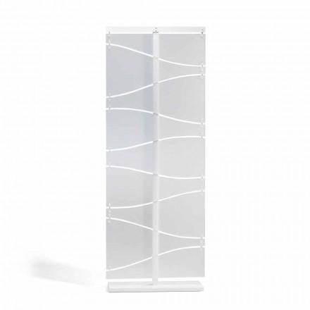 Ndarësi i dhomës së metakrilatit me dizajn modern Mara, fund i bardhë saten