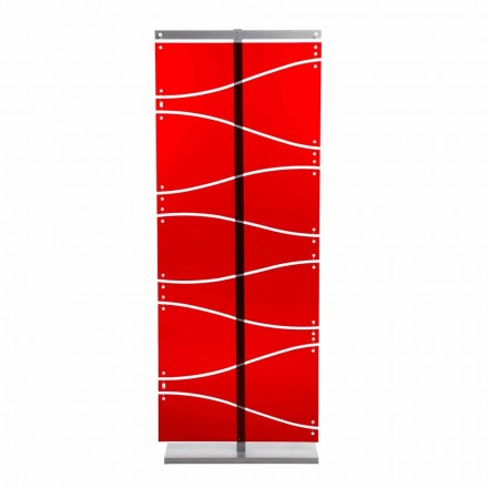 Ndarësi i dhomës së metakrilatit me dizajn modern Evelyn, përfundojë të kuqe ose saten