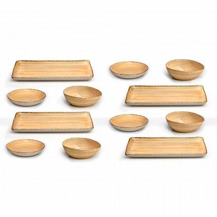 Shërbimi 12 Pllakat e gurit me ngjyrë drejtkëndëshe dhe të rrumbullakët, Dizajn Modern - Simba
