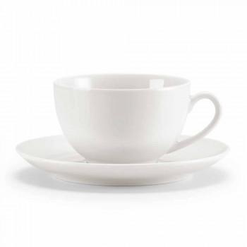 Seti i 18 gotave të çajit me Sugar Bowl dhe Porcelain Tabaka - Lucerne