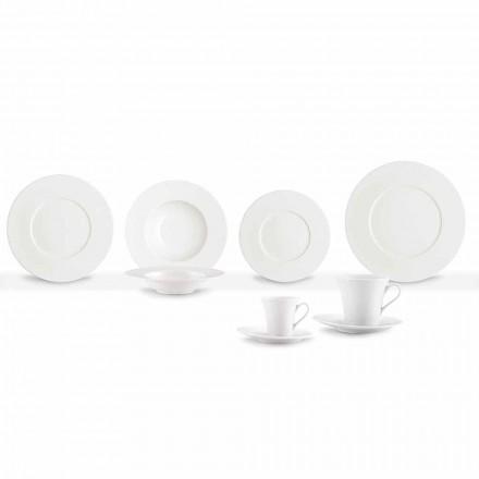 Shërbimi 24 Pllaka për darkë moderne dhe 12 kupa prej porcelani - Monako