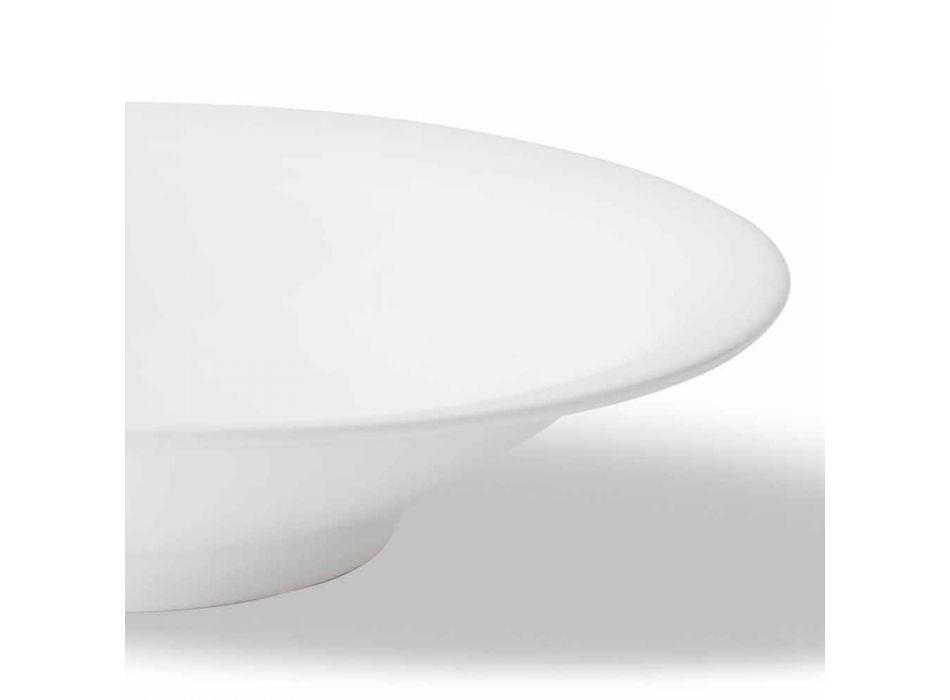 24 Pllaka Darkash Elegante në Dizajnin e Porcelanit të Bardhë - Doriana