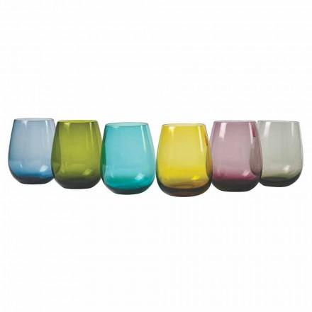 Dizajni gota uji qelqi me ngjyra, 12 copë - Aperi