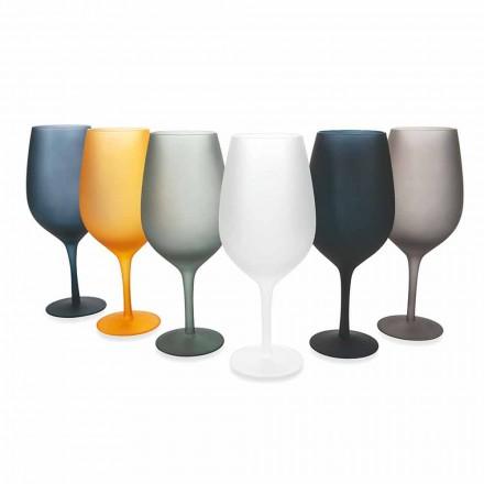 Kuti me verë të kuqe ose të bardhë e vendosur në gotë me ngjyra, 12 copë - Rim