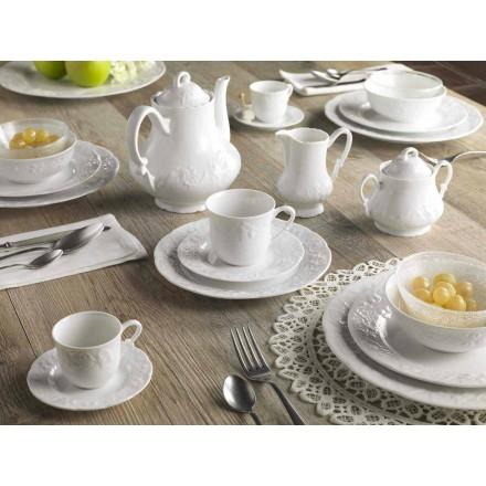 Shërbim i plotë i mëngjesit 22 copë në porcelan të Bardhë - Gimignano