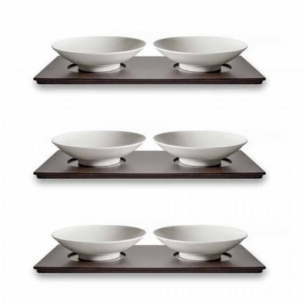 Shërbim i Kupave të Vogla me Tabaka prej druri Dizajn elegant Elegant 9 copë - Flavia