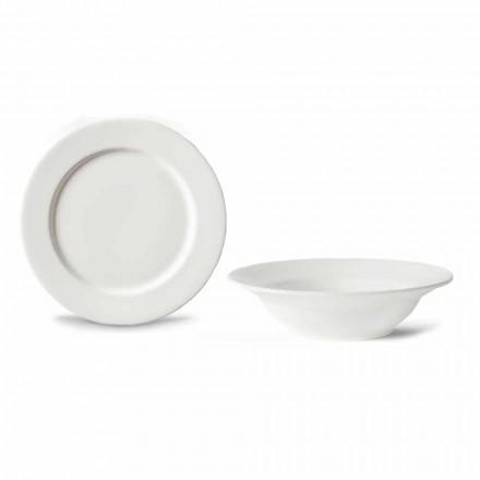 Shërbimi i ëmbëlsirave 6 tas dhe 6 dizajnerë të përgatitur në Porcelan të Bardhë - Samantha