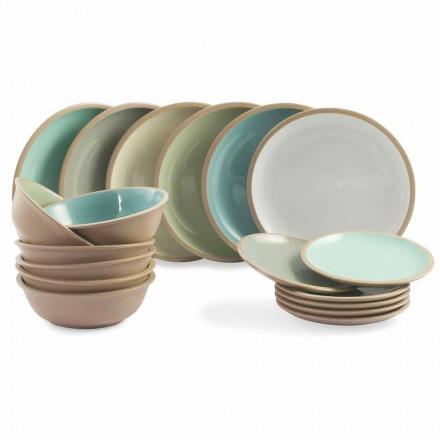 Vendosja e darkave vendosni pllaka me ngjyra 18 Dizajn të plotë 18 copë - Osteria