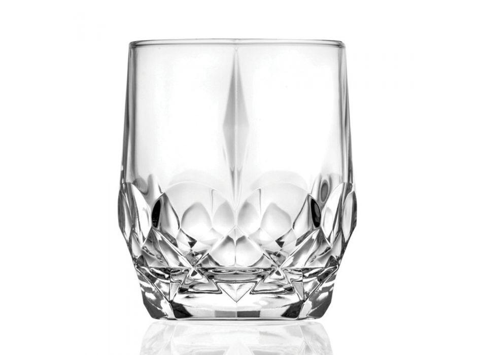 12 Copë Shërbimi i gotave të kristalit ekologjik kristal - Bromeo