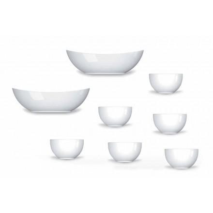 Shërbimi i kupave dhe tasave Dizajn modern në Porcelan 8 copë - Teleskop