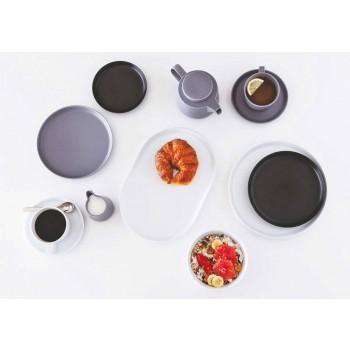 Pjatë Darke Porcelani me Model të Dizajnit Modern 24 Pjesë - Arktik