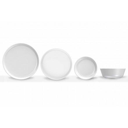 Darkë Porcelani me Model të Dizajnit Modern 24 Pjesë - Arktik
