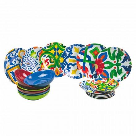 Set pllaka moderne dhe me ngjyra në prodhim gresi dhe porcelani 18 copë - Ciklade