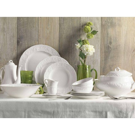 Seti i 27 Pllakave të Dizajnit Porcelan Elegant të Bardhë - Gimignano