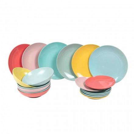 Vendosja e darkës me ngjyra të darkës Moderne me 18 ngjyra - Miami