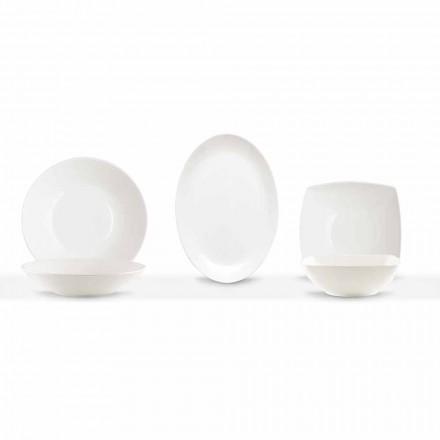 Shërbimi i enëve 3 copë Dizajn modern në Porcelan të Bardhë - Malaga
