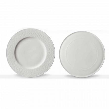 Enët e Shërbimit të Dizajnit Gourmet në Porcelan të Bardhë 2 copa - Flavia