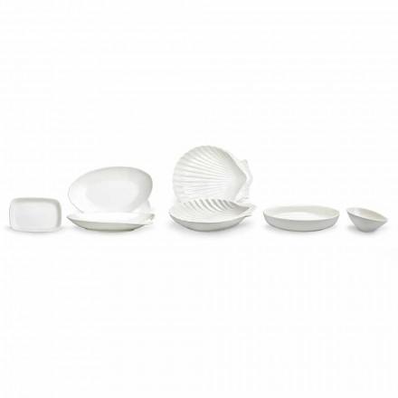 Enët e Shërbimit të Porcelanit të Bardhë Set 30 copa - Nalah