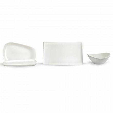 Shërbimi i pllakave për drekë ose porcelani modern 14 copë - Nalah