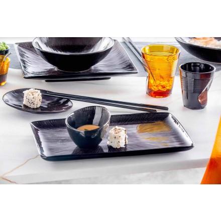 Vende për darkë 28 copë porcelani i zi Dizajn modern - Skar