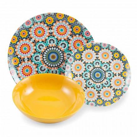 Pllakat e darkës etnike me ngjyra vendosin porcelan dhe gurë 18 çmendur - Marok