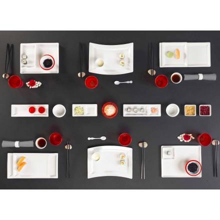 Enët vendosin Porcelani drejtkëndor prej 25 copë me dizajn modern - Melburn