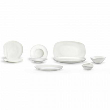 Set për darka prej porcelani të Bardhë 23 copë Dizajn modern dhe elegant - Nalah