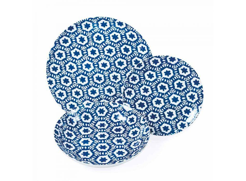 Darkë darke prej porcelani dritë blu ose blu 18 copë - Avion