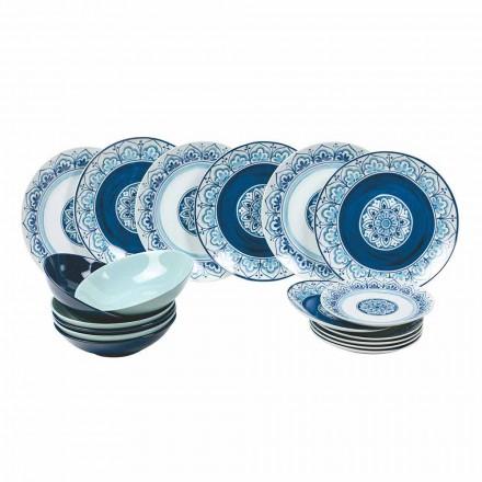 Shërbimet Moderne të Tabelave Porcelani dhe Pllaka guri Komplet 18 copë - Ravello