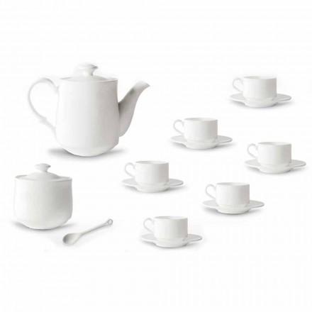 Vendosja e filxhanit të kafesë në modelin e Porcelanit të Bardhë 15 copë - Samantha