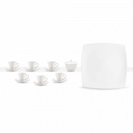 Kupa kafeje prej porcelani të Bardhë Shërbimi Dizajn modern 8 copë - Duomo