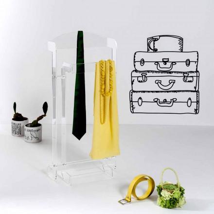 Raft pallto moderne me dizajn të bërë nga fleksibël Mose transparent