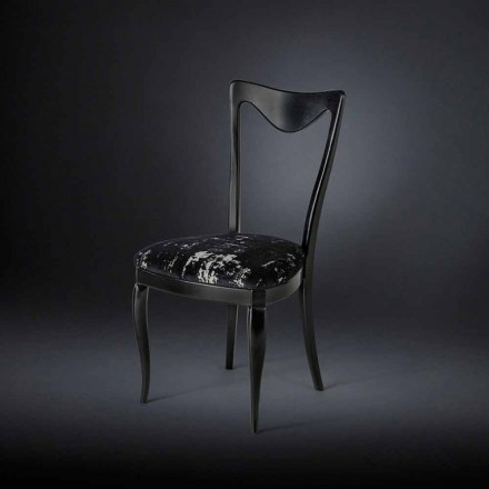 Seti i dy karrigeve të vrazhda me tapiceri Frida, të bëra në Itali