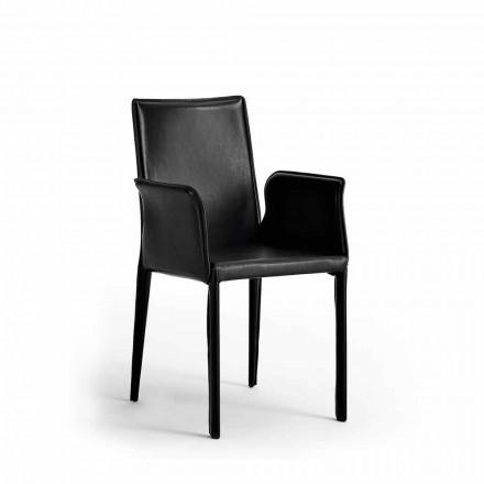 Karrige me strukturë çeliku të mbuluar në lëkurë - Moderne Jolie