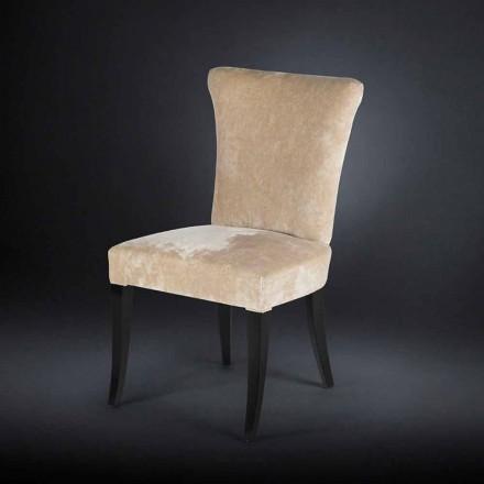 Seti i dy karrigeve me tapiceri Dita, ngjyra ecru, stili belle époque