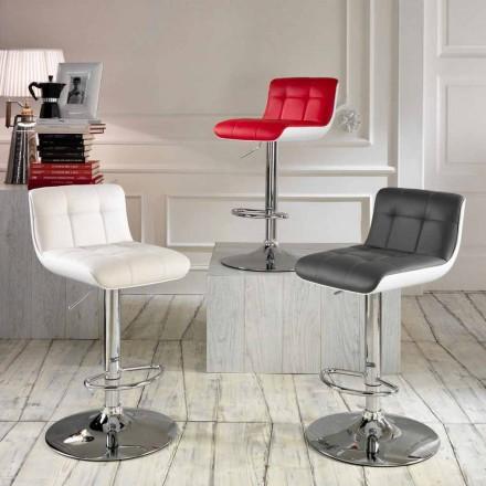 Seti i 2 stoolave të veshur me susta Ida, dizajn modern